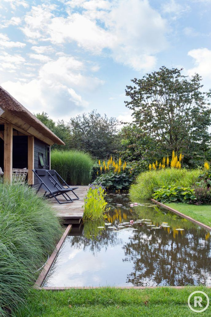 Tuininspiratie De Rooy Hoveniers villa tuin klassieke tuin vijver beplanting Waspik