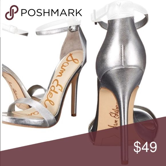 """Size 11 Sam Edelman silver high heels Eleanor Excellent condition! Size 11 silver strappy high heels, 4.75"""" heels. Perfect for prom season or evening out! These were a floor model, so there is wear on the soles and they have been handled but not worn out. Sam Edelman Shoes Heels"""