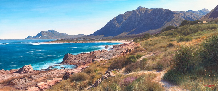 Painting of Bettys Bay Western Cape