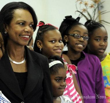 Condoleezza Rice visits Birmingham Boys & Girls Club