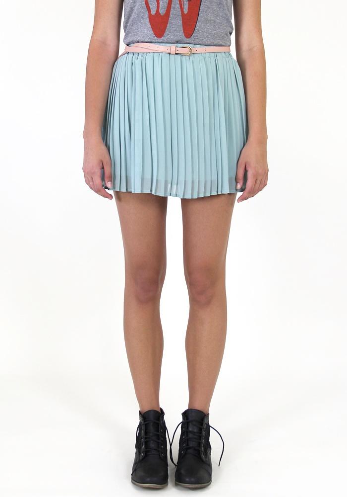 Sprig of Mint Pleated Skirt