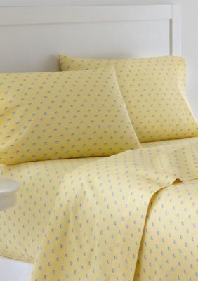 Southern Tide  Skipjack Twin Xl Sheet Set - Fitted 39-In. X 80-In - Yellow