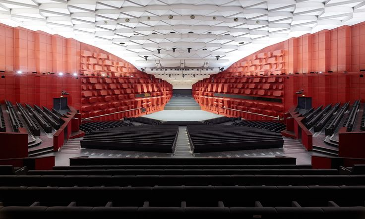Palais de la Musique et des Congrès (PMC) Strasbourg – Concert hall Erasme for 1.900 visitors / view from the auditorium