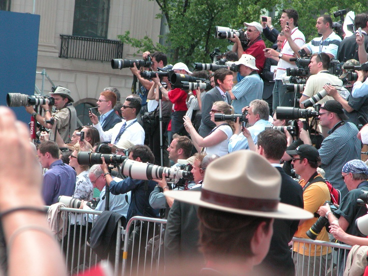 A sea of Lenses  waiting for William and Kate  Canada Day 2011 on Parliament Hill, Ottawa, ON