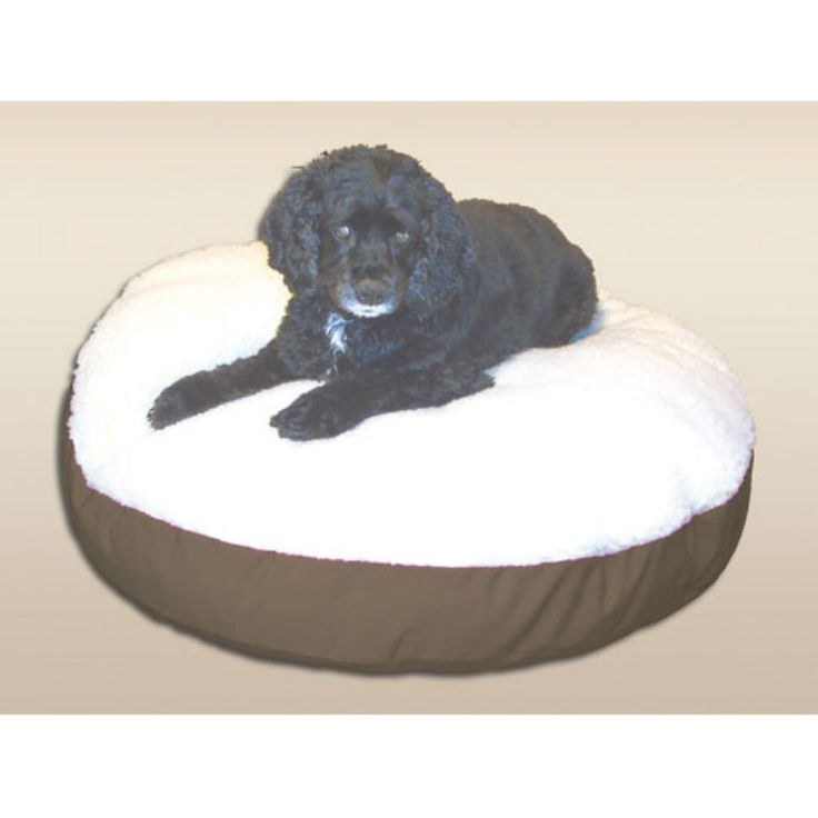 Snoozer Round Dog Bed with Sherpa Top Khaki - 91103