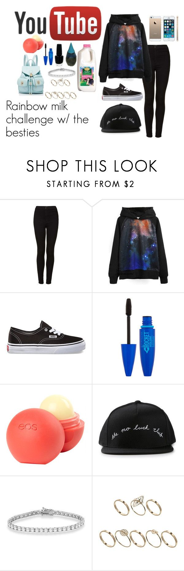 """""""Rainbow Milk Challenge"""" by lolalools ❤ liked on Polyvore featuring Topshop, Vans, OPI, dELiA*s, UNIF, Allurez, ASOS and Forever New"""