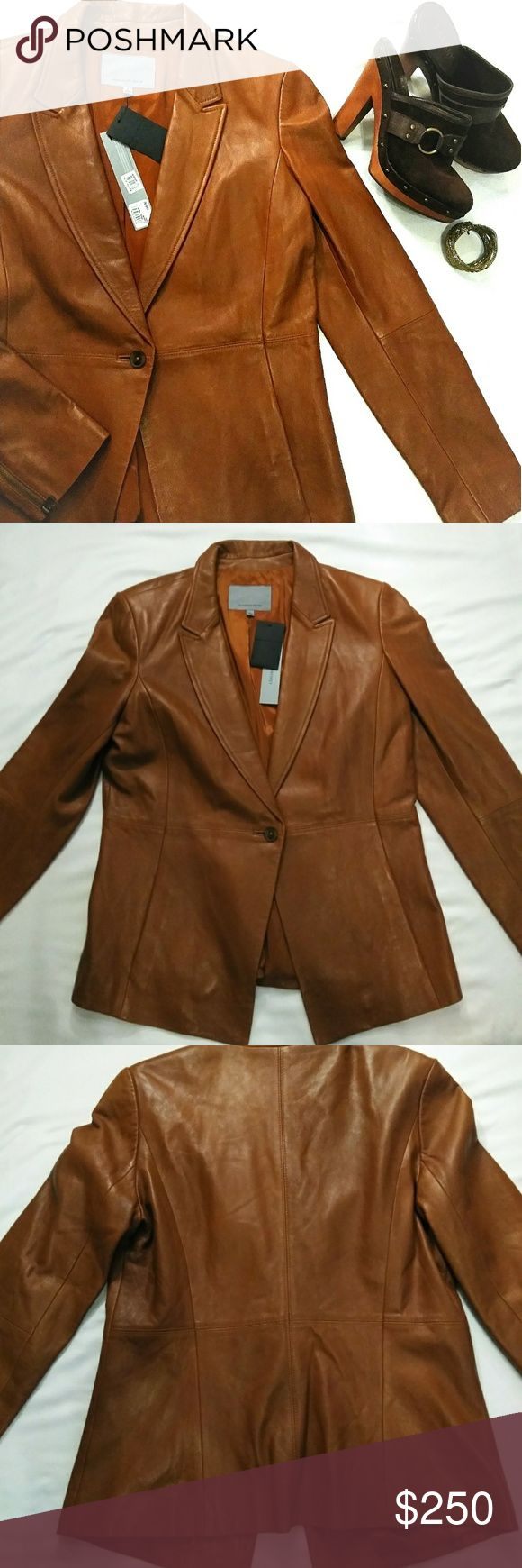 NWT Classiques Entier Nordstrom Leather Jacket New, never
