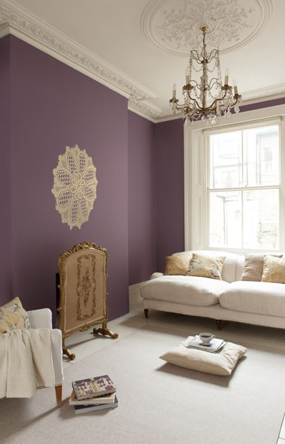 17 best ideas about plum living rooms on pinterest plum room purple accent walls and living Purple accent wall in living room