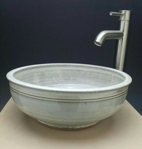 Handmade Pottery Vessel Sink Designed for your Bathroom Remodeling - Ready To Ship