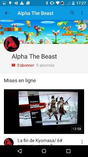 Alpha The Beast est une chaine youtub par rapport a des vidéo bilingue français anglaus