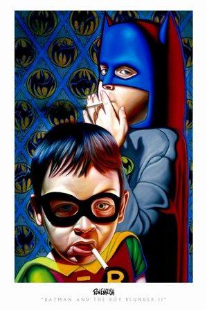 Batman and the Boy Blunder II by Ron English