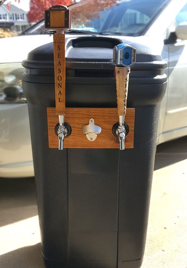 Learn how to make a cheap and transportable kegerator from a standard plastic trash can!