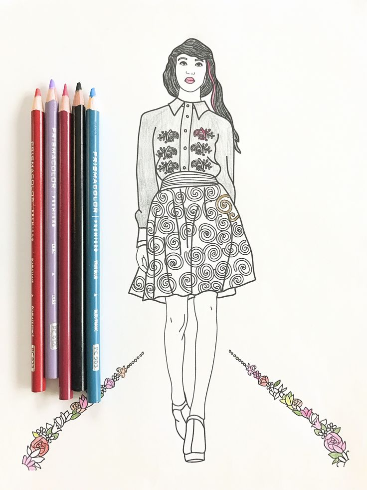 309 best Fashion Coloring Pages for Adults images on Pinterest ...