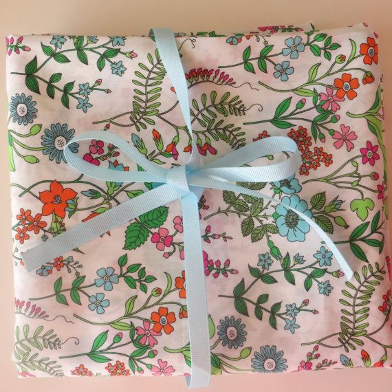Liberty of London Fabric Lola Weisselberg Tissus Tessuti Liberty Floral cotton fabric by FitaDeVies