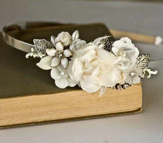 Bridal Headband via Lonkoosh