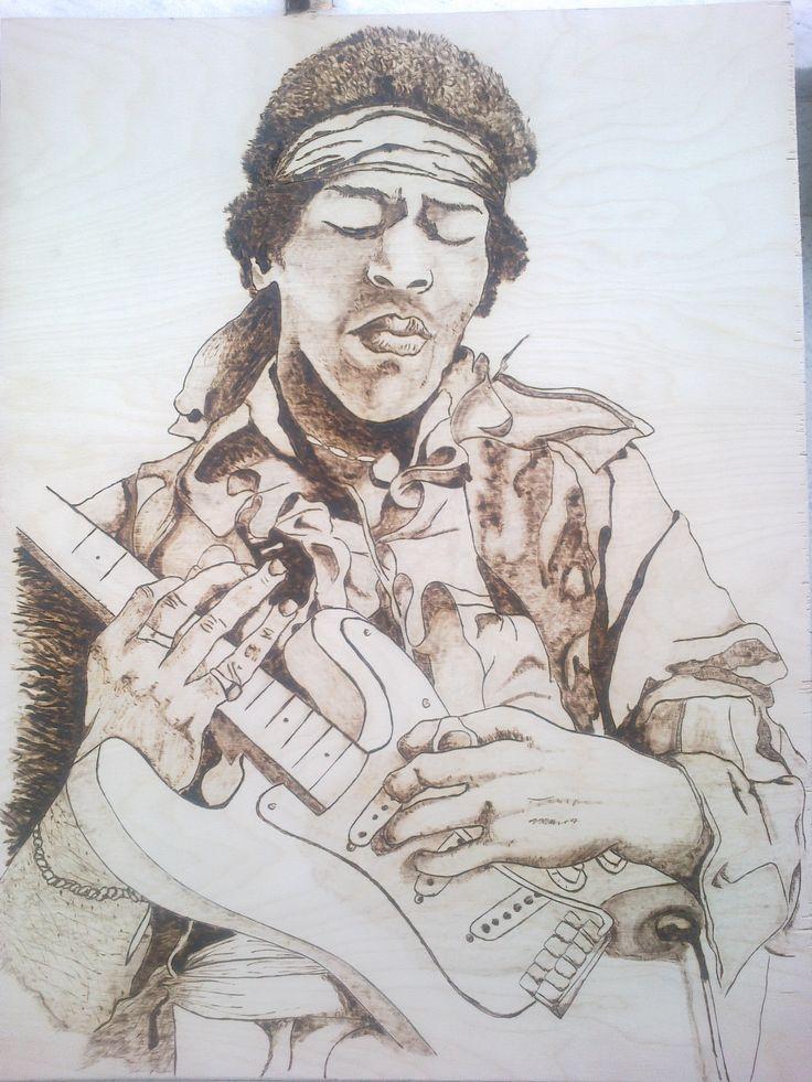 Jimi Hendrix PyroArt