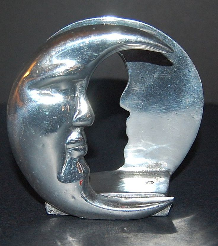Moon Man Napkin or Letter Holder from kitschandcouture on Ruby Lane