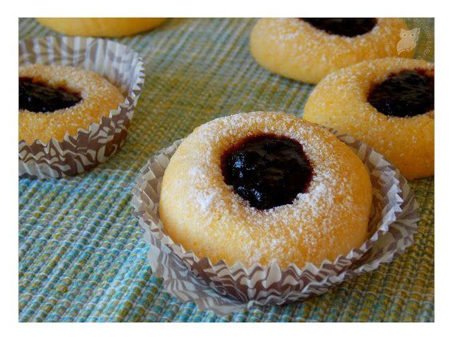 Sfizi & Vizi: Biscottini con farina di riso e farina di mais con composta ai frutti di bosco