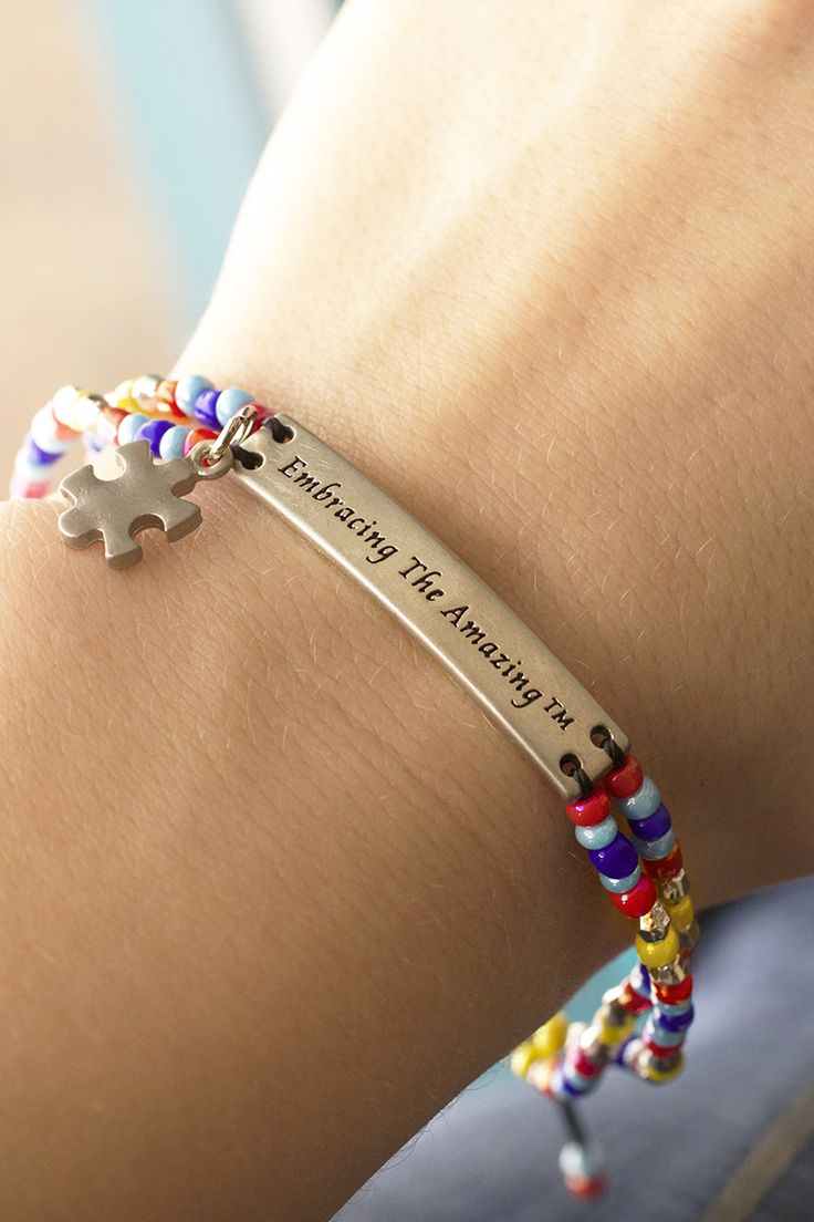 If you've got a loved one with autism, then embracing the amazing is nothing new to you. Our adjustable and brightly beaded puzzle piece bracelet shares the enigmatic beauty of our friends and family members on the spectrum.