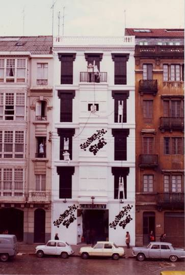 Tienda  de moda Carnaby,Juan Florez en 1977,toda una revolución en este tipo de tiendas,cambiaba habitualmente la decoración interior y la fachada. foto Blanco