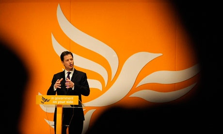 Nick Clegg farts the Lib Dems into oblivion