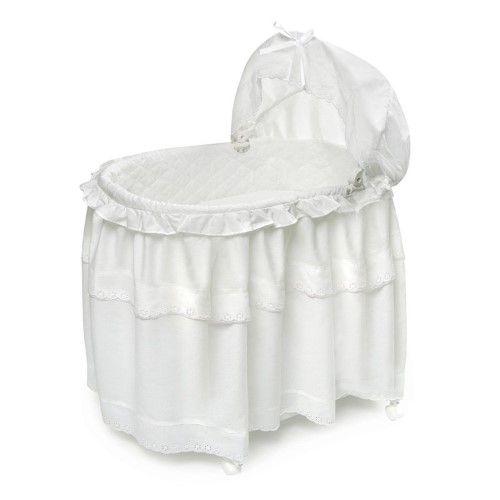 Best Badger Basket White Batiste Long Skirt Portable Bassinet N 400 x 300