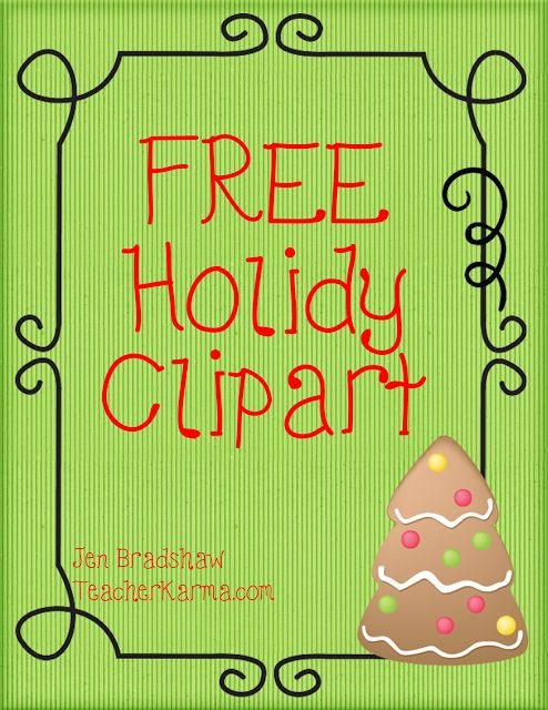 """Classroom Freebies: """"Tis the Season for FREE Holiday Clipart: Gingerbr..."""