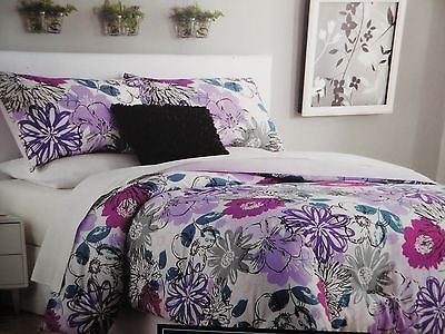 cynthia rowley pink purple teal black mod floral full
