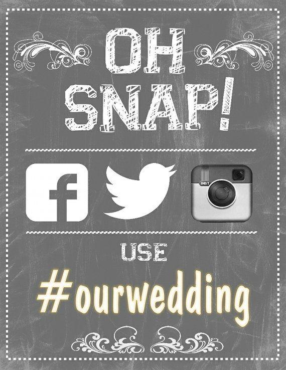 Instagram wedding poster-- Hashtag sign | Hashtag Sign ...