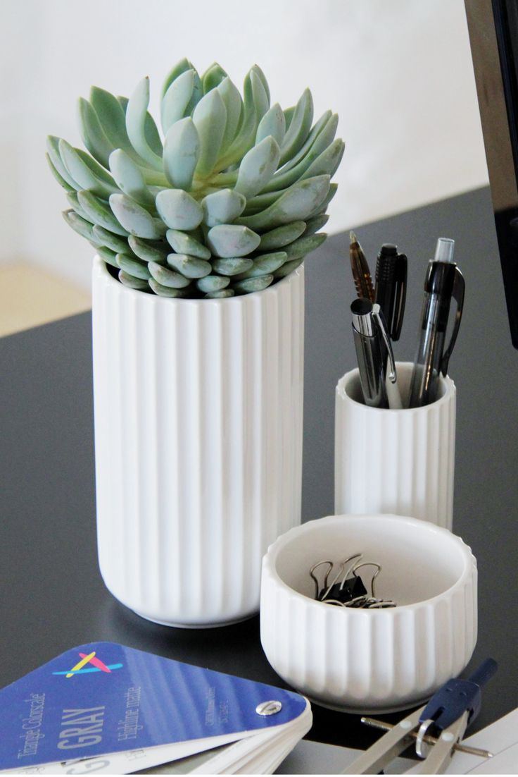 Use our Lyngby vases at your office.