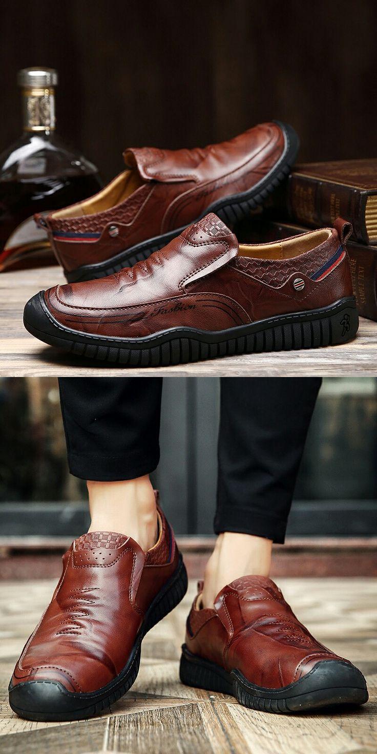 >> comprar aqui << Prelesty Marca de Luxo Genuínos Homens de Couro Sapatos De Trabalho de Inverno & Segurança Sapatos Casuais Designer De Altura Crescente Sapatos