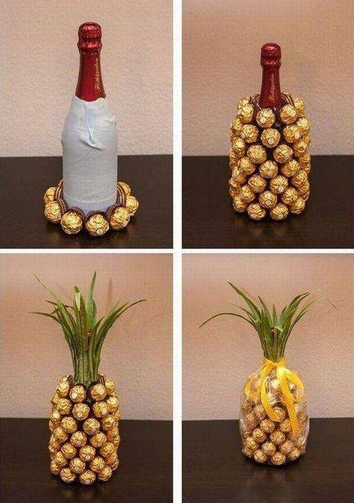 pineapple ferrero rocher bottle for mum