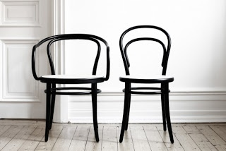 Thonet - white or black / mix depending on the table we decide