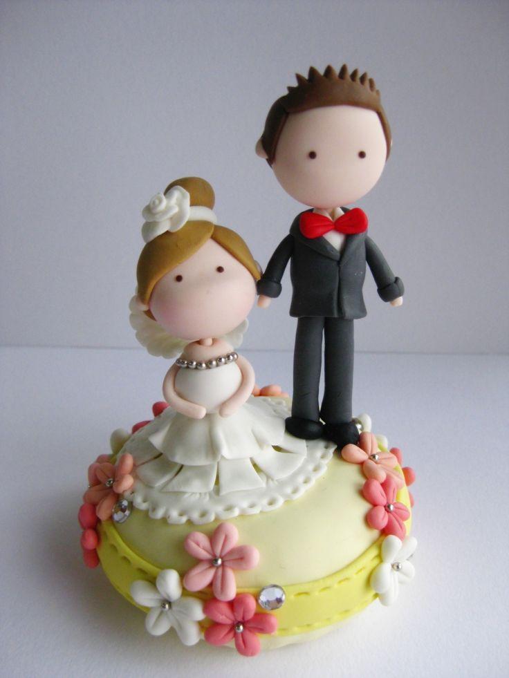 Wedding Clay Cake Topper (Not Edible)
