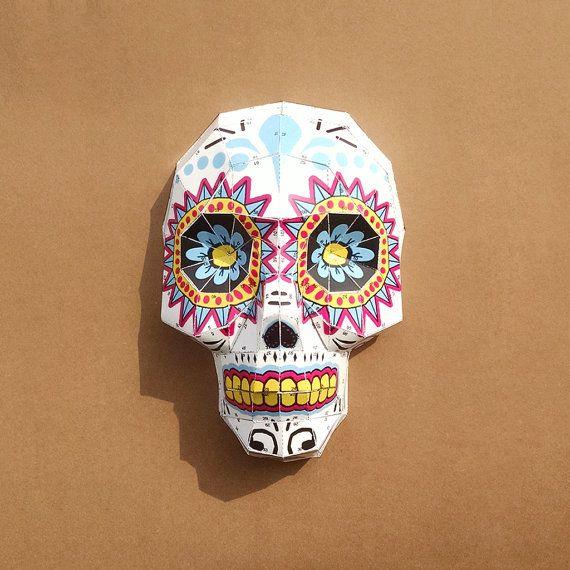 Crânes en sucre modèles bricolage Papercraft par LowpolyPaper