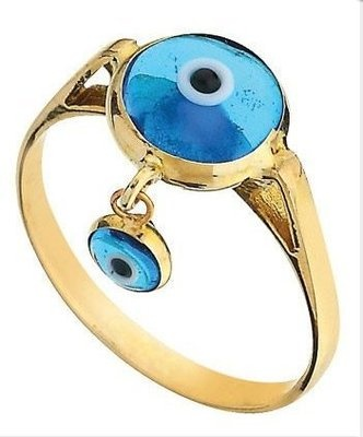 EVIL EYE 14K  YELLOW GOLD  RING DIAMOND LOOK SETTING   ELEGANCE evil eye good luck ring  the item code (YG-013 ) AVAILABLE EVIL EYE  OTHER COLORS  1.90 GR.  14K(585) STAMPED  HANDMADE   HIGHT QUALITY   EXCELLENT  NEW DESIGN  MADE IN TURKEY   WE ACCEPT SPECIAL ORDER