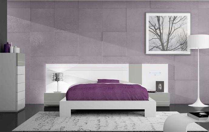 dormitorio matrimonio color blanco poro u plata de moblerone dormitorios pinterest