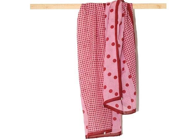 Sjaal met rode stippen uit de Jaipur Tales collectie van Hellen van Berkel :: Le Goût des Couleurs producten - Webshop