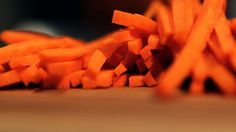 How to julienne (cut) carrots (match stick style) - video | Mario Batali
