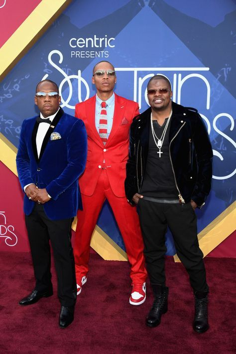 Michael Bivins, Ronnie DeVoe and Ricky Bell [Bell Biv DeVoe!] All The Looks On The Soul Train Awards Red Carpet