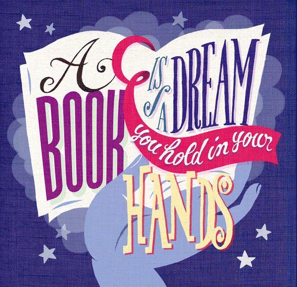 lettering artwork, book lovers calendar illustration for legami milano, by marco marella