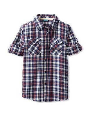 86% OFF Me Too Boy's Plaid Shirt (Estate Blue)