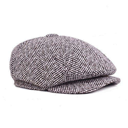 5d3022cfef1  8.99 Men s Peaked Beret Cap Newsboy Cabbie Golf Cap Ivy Baker Boy Visor Artist  Hat