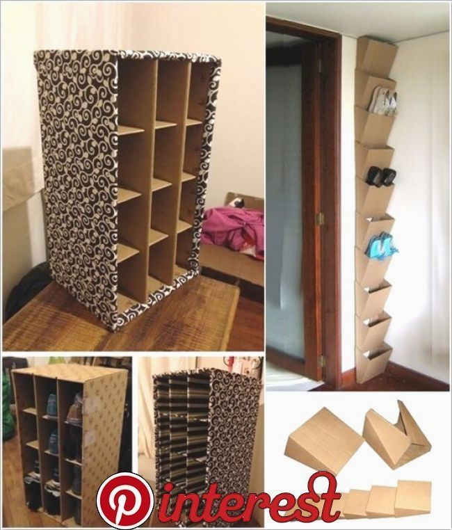 Creative Diy Shoe Rack Diy Shoe Storage Diy Storage Cardboard Storage
