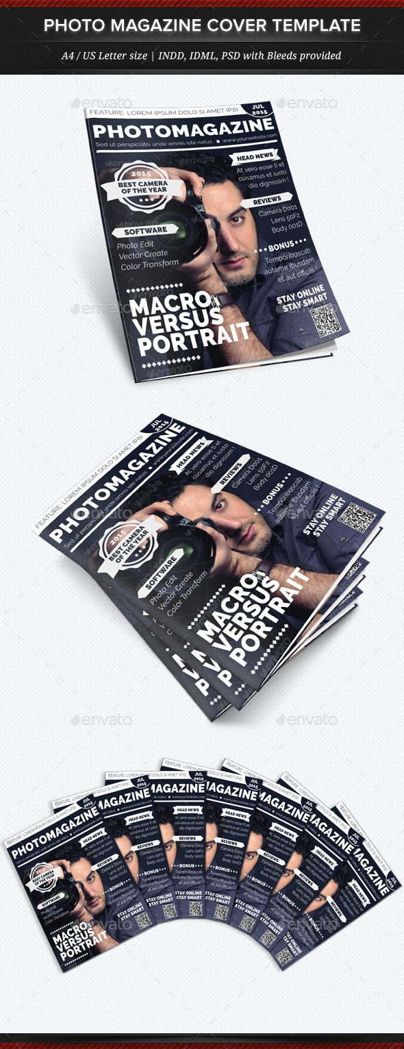 Photo Magazine - Multipurpose Magazine Cover Templ — Photoshop PSD #photography #template • Available here → https://graphicriver.net/item/photo-magazine-multipurpose-magazine-cover-templ/12271858?ref=pxcr