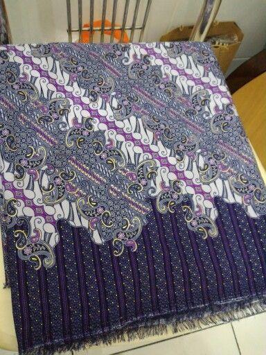 Purple pattern kain tille print