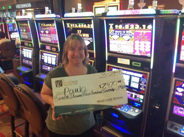 Paula won $7,470.04 on Double Diamond @WindCreekAtmore