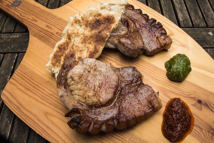 Schweinekotelett aus dem Steakreaktor