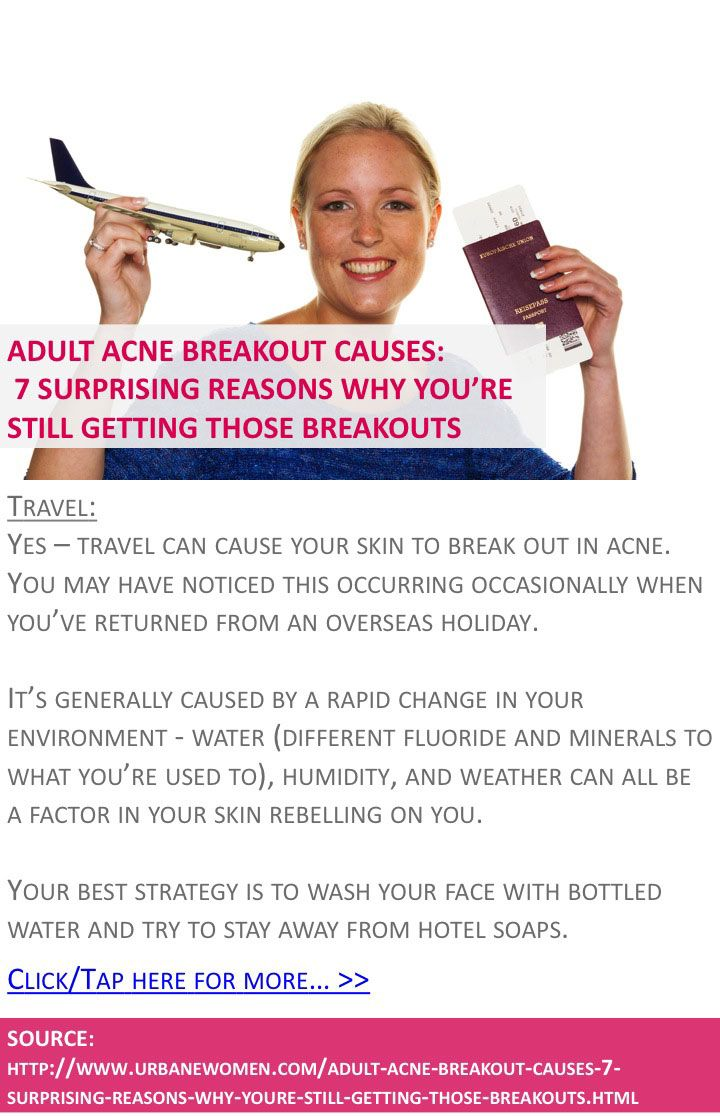 Adult acne breakout causes: 7 surprising reasons why you're STILL getting those breakouts - Travel - Click for more: http://www.urbanewomen.com/adult-acne-breakout-causes-7-surprising-reasons-why-youre-still-getting-those-breakouts.html