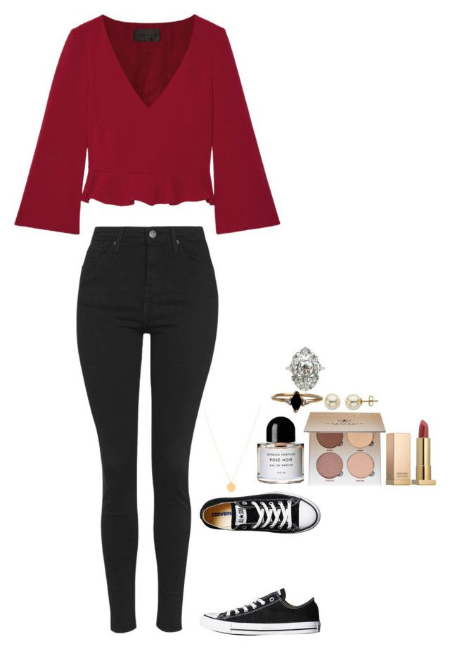 """""""Madrid, Spain """" by imimidoll ❤ liked on Polyvore featuring Converse, Cushnie Et Ochs, Topshop, Isabel Marant, Byredo, Anastasia Beverly Hills, LUMO, Sephora Collection and Lord & Taylor"""